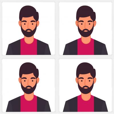 Pasfoto man